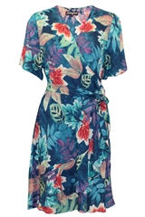Rant and Rave  Bel Wrap Dress Tropical Blue