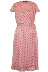 Rant and Rave  Martha Wrap Dress Pink
