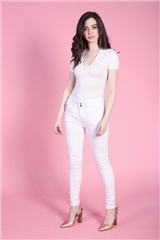 Rant and Rave  Caprice Skinny Jean White