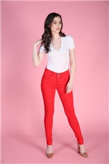 Rant and Rave  Delma Tummy Tuck Jean Red