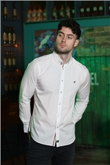 Outrage Lawry Long Sleeve Shirt White