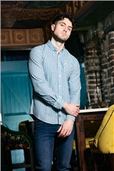 Outrage Orson Long Sleeve Shirt Teal Check