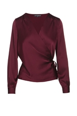 Rant and Rave  Gena Wrap Top Burgundy