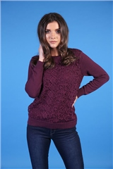 Rant and Rave  June Lace Jumper Plum