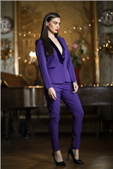 Rant and Rave  Megan Blazer & Slim Trouser Suit Purple