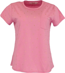 Relax & Renew Fay Tee Pink Melange
