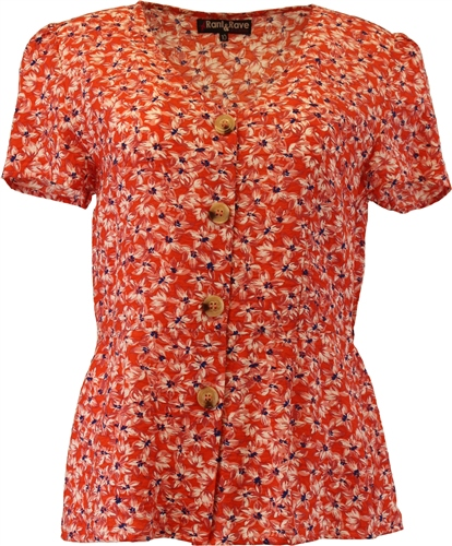 Rant and Rave  Ida Top  Orange Coral 1
