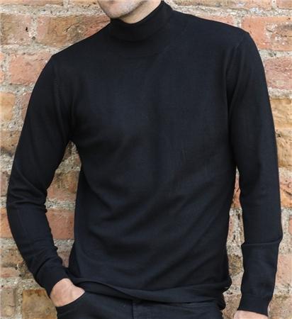Outrage Morse Polo Neck Jumper Black