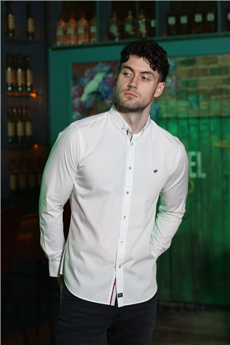 Outrage Lawry Long Sleeve Shirt White  - Click to view a larger image