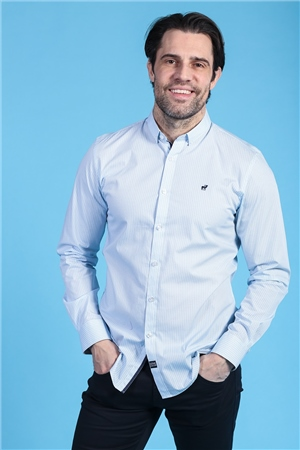 Outrage Mahin Long Sleeve Shirt Sky Blue  - Click to view a larger image