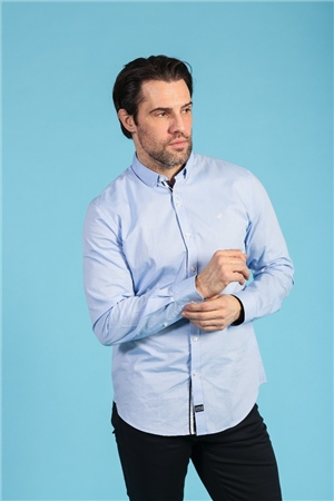 Outrage Patrick Long Sleeve Shirt Sky Blue