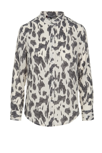Rant and Rave  Alice Blouse Grey