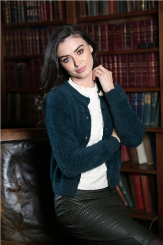 Rant and Rave  Amber Fluffy Cardigan Green