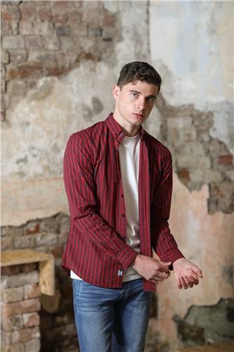 Kingpin Boden Shirt Red Check