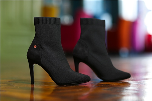 Rant and Rave  Roxanne Sock Boot Black  - Click to view a larger image
