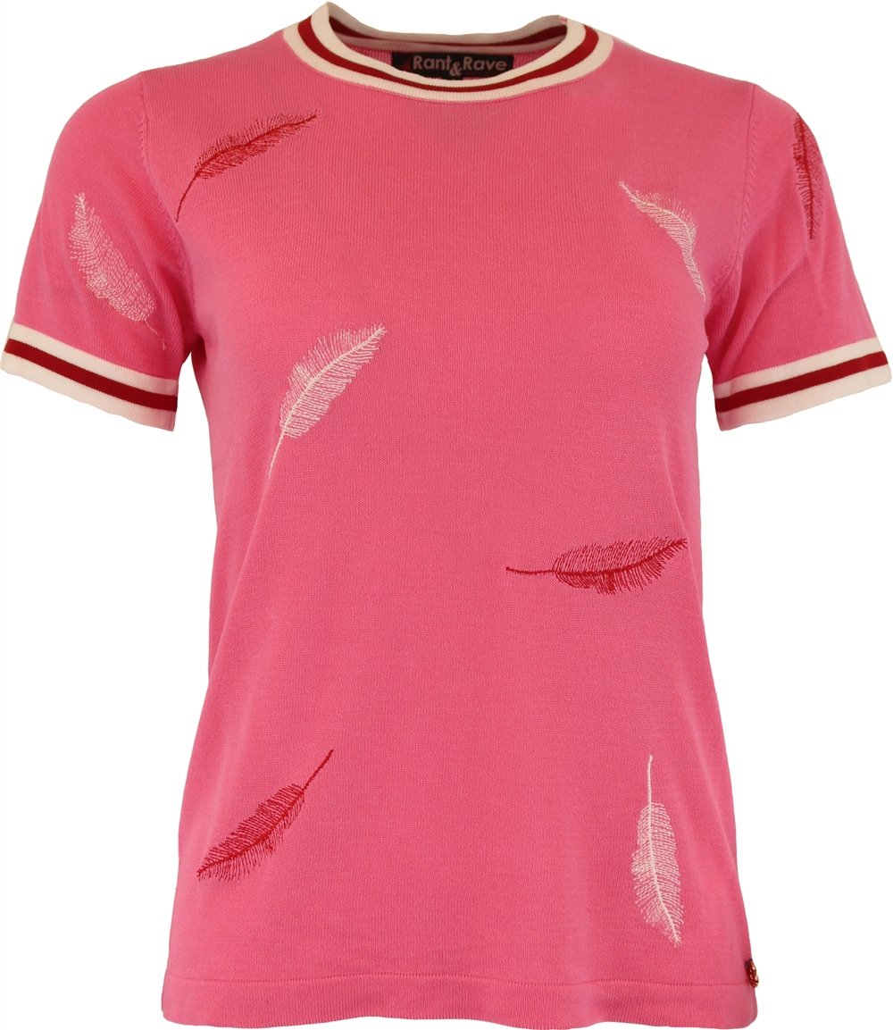 Rant and Rave  Ivy Tee Pink 1