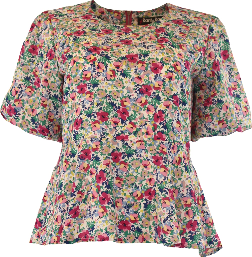 Rant and Rave  Asha Top Pink Floral 1