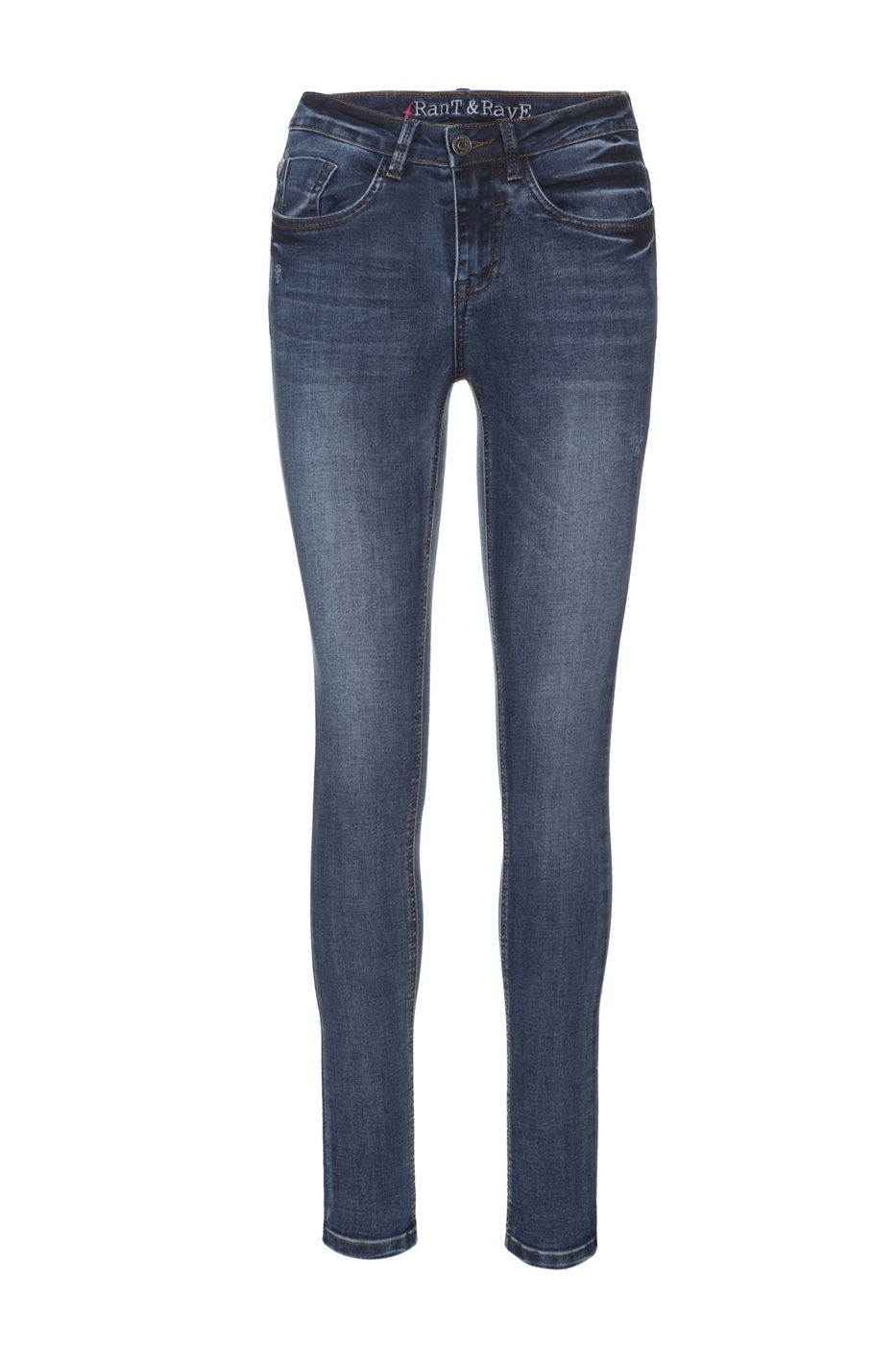 Rant and Rave  Mid Wash Enzo Skinny Jean Denim 1